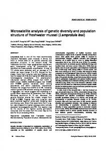 Microsatellite analysis of genetic diversity and population structure of freshwater mussel (Lamprotula leai)