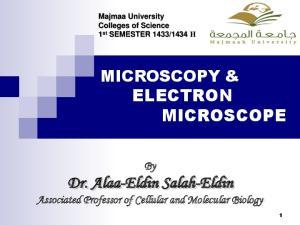 MICROSCOPY & ELECTRON MICROSCOPE