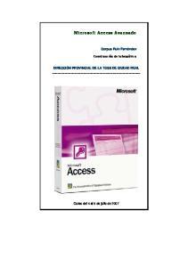 Microsoft Access Avanzado