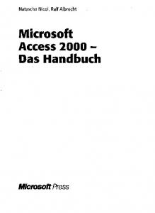 Microsoft Access Das Handbuch