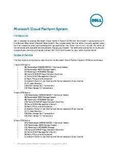 Microsoft Cloud Platform System