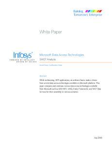 Microsoft Data Access Technologies