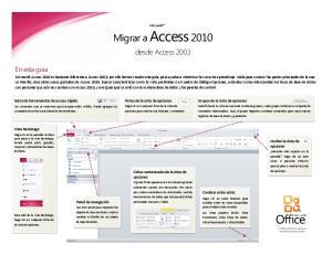 Microsoft. desde Access 2003