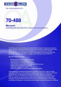 Microsoft Developing Microsoft SharePoint Server 2013 Core Solutions