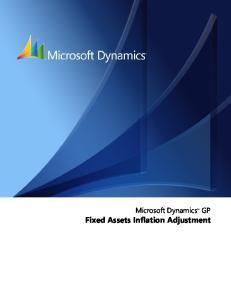 Microsoft Dynamics GP. Fixed Assets Inflation Adjustment