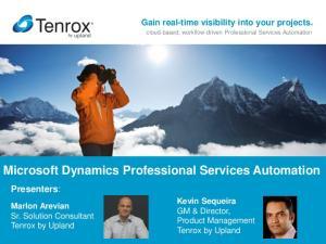 Microsoft Dynamics Professional Services Automation