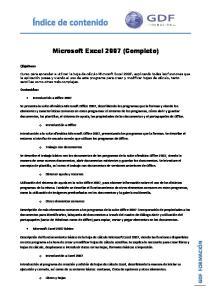 Microsoft Excel 2007 (Completo)