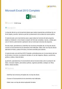 Microsoft Excel 2013 Completo