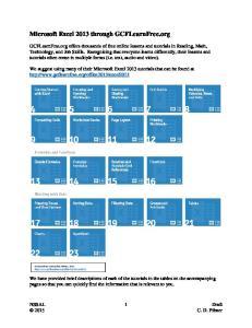 Microsoft Excel 2013 through GCFLearnFree.org