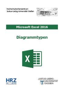 Microsoft Excel 2016 Diagrammtypen