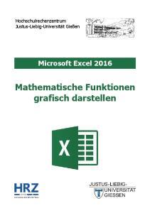 Microsoft Excel 2016 Mathematische Funktionen grafisch darstellen