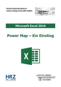 Microsoft Excel 2016 Power Map Ein Einstieg