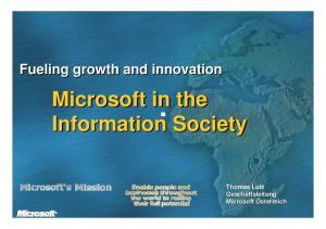 Microsoft in the Information Society