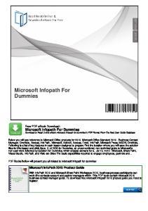 Microsoft Infopath For Dummies