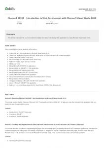 Microsoft Introduction to Web Development with Microsoft Visual Studio 2010