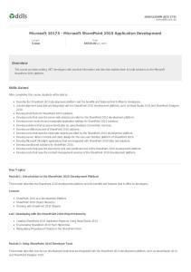 Microsoft Microsoft SharePoint 2010 Application Development
