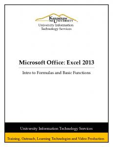 Microsoft Office: Excel 2013