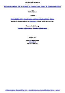 Microsoft Office Home & Student und Home & Business Edition Seimert