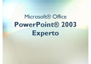 Microsoft Office PowerPoint 2003 Experto