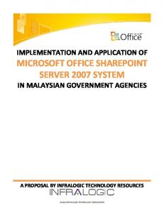 MICROSOFT OFFICE SHAREPOINT SERVER 2007 SYSTEM IN MALAYSIAN GOVERNMENT AGENCIES