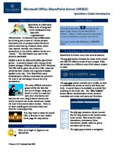 Microsoft Office SharePoint Server (MOSS)