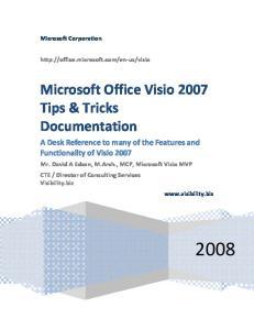 Microsoft Office Visio 2007 Tips & Tricks Documentation