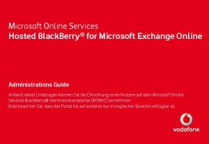 Microsoft Online Services Hosted BlackBerry for Microsoft Exchange Online