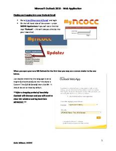 Microsoft Outlook 2010 Web Application