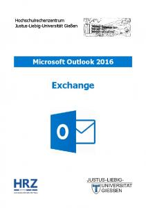 Microsoft Outlook 2016 Exchange