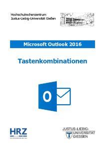 Microsoft Outlook 2016 Tastenkombinationen
