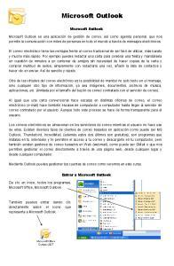 Microsoft Outlook. Microsoft Outlook