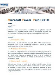 Microsoft Power Point 2010