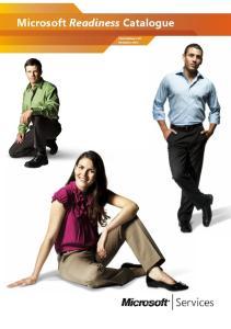 Microsoft Readiness Catalogue. Third Edition v2.0 November 2011