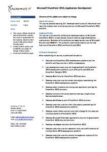 Microsoft SharePoint 2010, Application Development