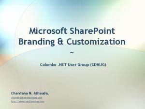 Microsoft SharePoint Branding & Customization ~