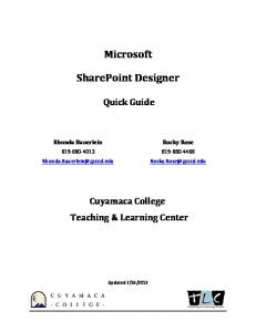 Microsoft. SharePoint Designer
