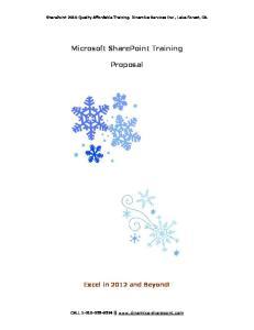 Microsoft SharePoint Training. Proposal