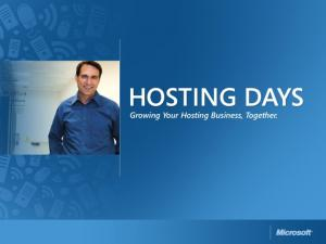 Microsoft think Web-Hosting!