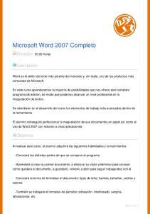 Microsoft Word 2007 Completo