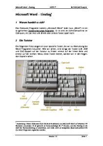 Microsoft Word Einstieg 1
