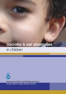 microtia & ear anomalies