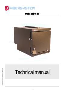 Microtower _AK0, Technical manual, Microtower. Technical manual