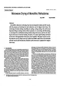 Microwave Drying of Monolithic Refractories
