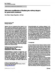 Microwave modification of Radiata pine railway sleepers for preservative treatment