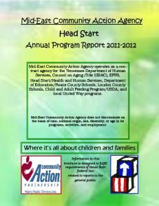 Mid-East Community Action Agency. Head Start. Annual Program Report