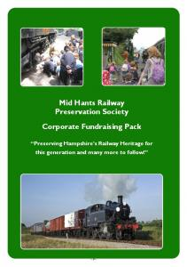 Mid Hants Railway Preservation Society. Corporate Fundraising Pack