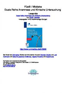 Middeke Duale Reihe Anamnese und Klinische Untersuchung