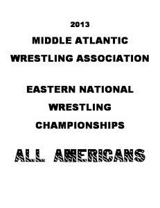 MIDDLE ATLANTIC WRESTLING ASSOCIATION EASTERN NATIONAL WRESTLING CHAMPIONSHIPS ALL AMERICANS