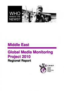 Middle East Global Media Monitoring Project 2010 Regional Report