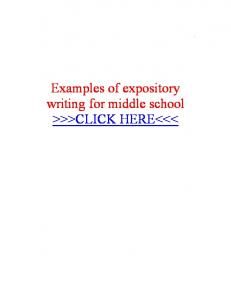 middle example For middle expository examples expository for